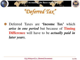 """Deferred Tax"""