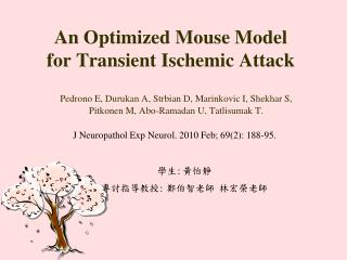 An Optimized Mouse Model for Transient Ischemic Attack