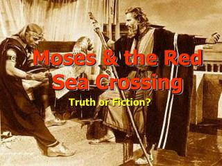 Moses  the Red Sea Crossing