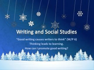 Writing and Social Studies
