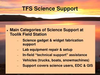 TFS Science Support