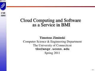 Cloud Computing and Software  as a Service in BMI