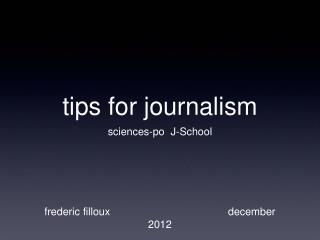 tips for journalism