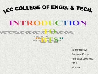 PPT - IEC COLLEGE OF ENGG  & TECH  PowerPoint Presentation