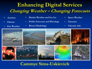 Enhancing Digital Services Changing Weather – Changing Forecasts