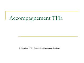 Accompagnement TFE