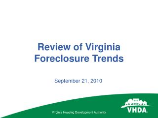 Review of Virginia Foreclosure Trends