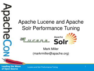 Apache Lucene and Apache Solr Performance Tuning