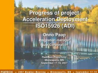 Onno Paap Integration manager Fluor Corporation