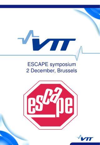 ESCAPE symposium 2 December, Brussels