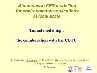 Tunnel modelling : the collaboration with the CETU