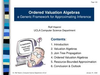 Ordered Valuation Algebras a Generic Framework for Approximating Inference