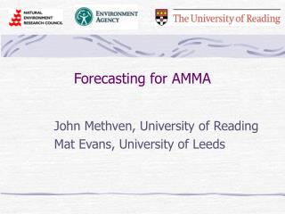 Forecasting for AMMA