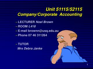 Unit 51115/52115 Company/Corporate  Accounting