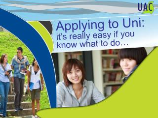 Applying to Uni: it's really easy if you know what to do…