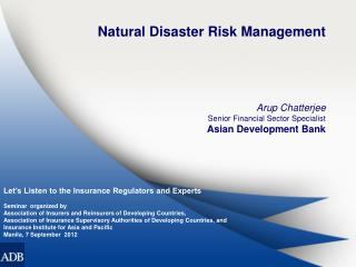 Natural Disaster Risk Management