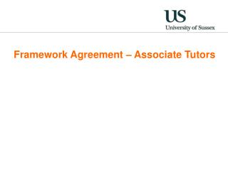 Framework Agreement – Associate Tutors