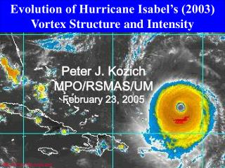 Evolution of Hurricane Isabel's (2003) Vortex Structure and Intensity