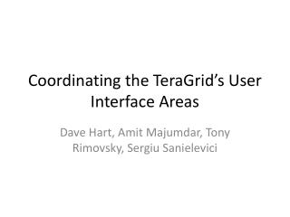 Coordinating the TeraGrid's User Interface Areas