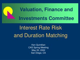 Interest Rate Risk and Duration Matching