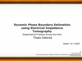 Dynamic Phase Boundary Estimation using Electrical Impedance Tomography