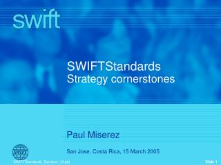 SWIFTStandards Strategy cornerstones
