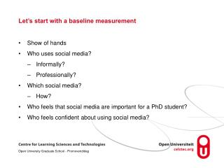 Let's start with a baseline measurement
