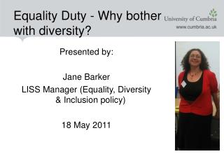 Equality Duty - Why bother  with diversity?