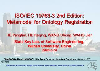 ISO/IEC 19763-3 2nd Edition: Metamodel for Ontology Registration