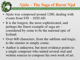 Nj ála  – The Saga of Burnt Njal