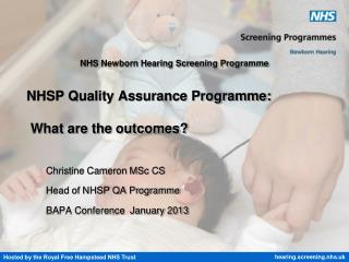 NHSP Quality Assurance Programme: What are the outcomes?