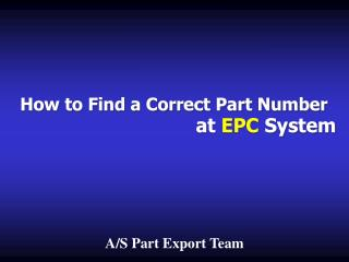 How to Find a Correct Part Number
