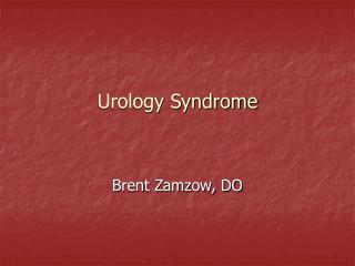 Urology Syndrome