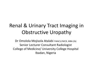 Renal & Urinary Tract Imaging in Obstructive Uropathy