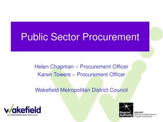 Public Sector Procurement