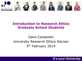 Introduction to Research Ethics Graduate School Students