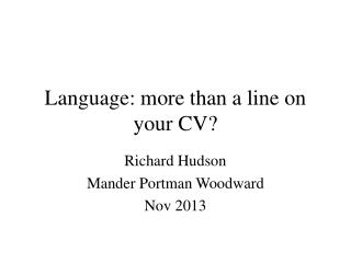 Language: more than a line on your CV?