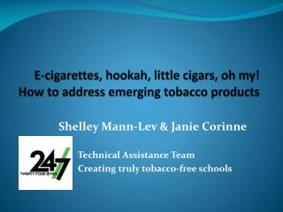 E-cigarettes, hookah, little cigars, oh my! How to address emerging tobacco products
