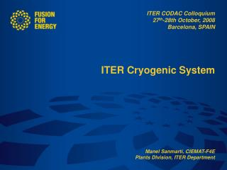ITER Cryogenic System
