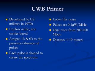 UWB Primer
