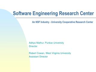 Software Engineering Research Center