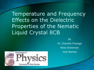 Temperature and Frequency Effects on the Dielectric Properties of the Nematic Liquid Crystal 8CB