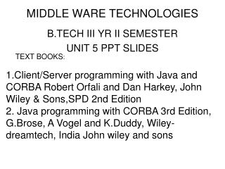 MIDDLE WARE TECHNOLOGIES