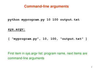 Command-line arguments