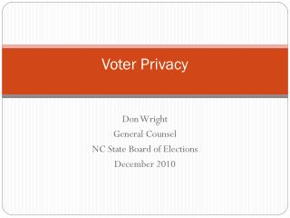 Voter Privacy