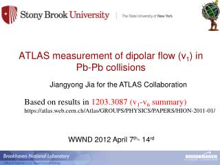 ATLAS measurement of dipolar flow (v 1 ) in Pb-Pb collisions