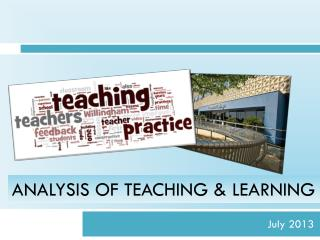 Analysis Of Teaching & Learning