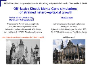Off-lattice Kinetic Monte Carlo simulations  of strained hetero-epitaxial growth
