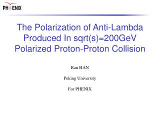 The Polarization of Anti-Lambda Produced In sqrt(s)=200GeV Polarized Proton-Proton Collision
