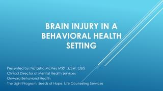 Mild-Traumatic Brain Injury:  The Forgotten Injury